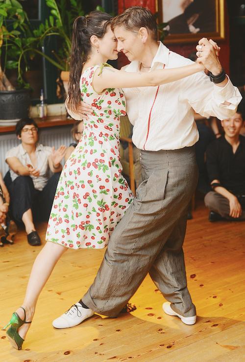 Astrid Weiske mit Tanzpartnerin